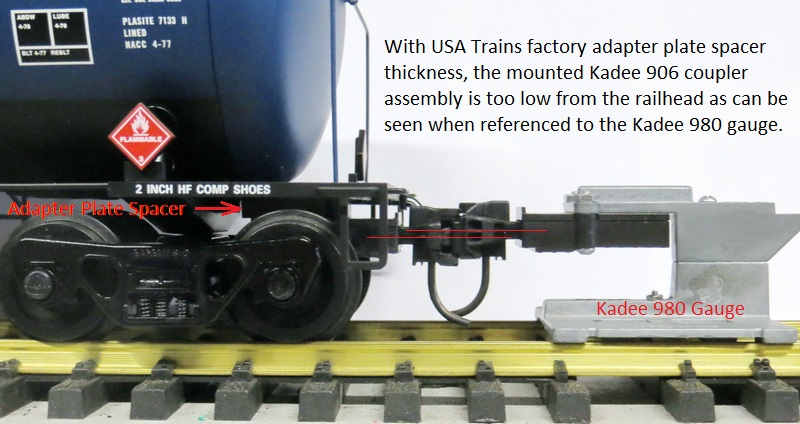 USAT 55 foot tank car with Kadees not aligned
