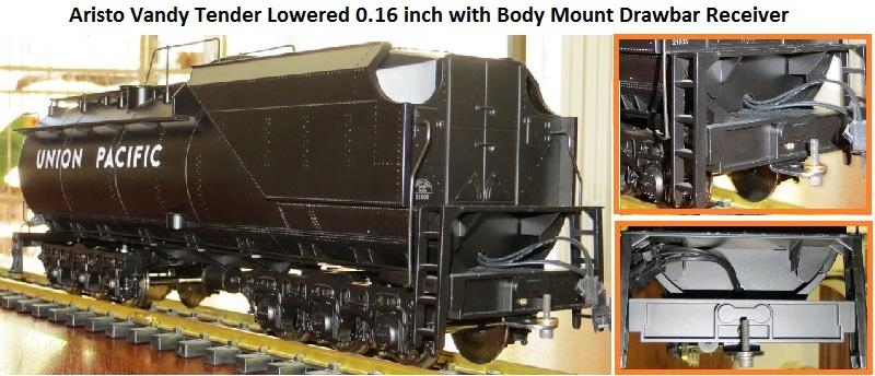 Lowererd tender with body mount Drawbar