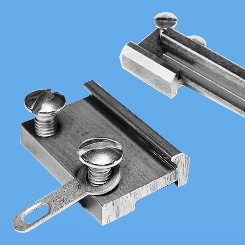 NpB corrosion free rail clamps for LGB compatible track